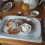 Selbstgemachte Pancakes zum Frühstück