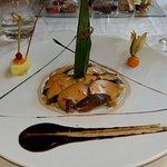 carpaccio de foie gras aux magrets