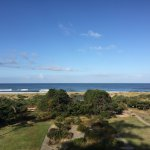 View of the Pacific Ocean from private balcony.