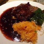 Beautiful steak with potato farl - delicious!
