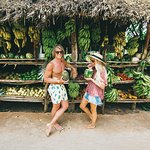 Discover Las Galeras' beachside shops filled with tropical fruits.