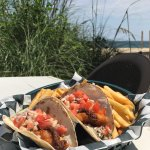 Fish Tacos with the best view on the beach!