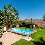 Pool, Garden and Views from Villa Las Terrazas 22  in Salobre Golf Resort - Villa in Gran Canari