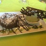 Moelleux au chocolat et glace pistache....hummmmmm !!!!