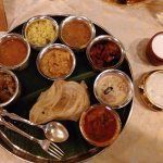 The nonvegeterian South Indian thali