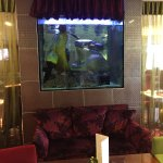 Loved this fish tank in the dining/lounge area.