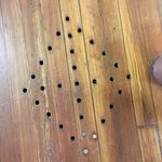 Holes in the basement floors used in the Underground Railroad System