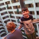 The elevator is fun!