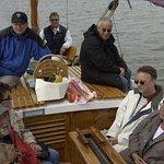 Auf Zeesenbootfahrt mit Hotelchef Herrn Rudolpf.