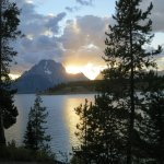 Sunset behind Mount Moran from site #15