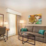 Newly renovated, large king suite featuring living area and sofa bed