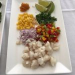 The chef Pedro cooking lesson on making ceviche was fun and delicious too!