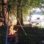 Unser Steg zum Fischen, Schwimmen, Sonnen, Träumen........und wärmen am Lagerfeuer