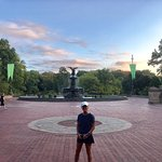Our run went by the Bethesda Fountain.