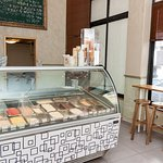 Interior of the ice-cream parlour