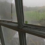 I'd just like to add pictures of the so called 4 * Mottram Hall, room 263. Single glazed window,