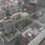 Blick vom Pool auf der 21. Etage