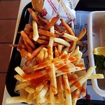 sweet potato fries. regular fries.
