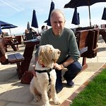 Otto and I at the Cooden Beach