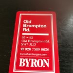 Byron Old Brompton Road Photo