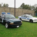 Dodge Ram and Chevrolet Police car