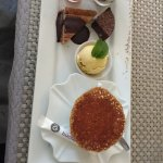 Café Gourmand - that's a cup of coffee hidden under the tuile (lacey cookie)