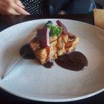 Crispy pork belly and tamarind sauce