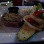 Tuna steak. Excellent