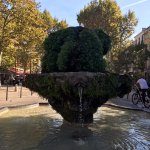 beautiful fountain on the cours mirabeau