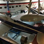 View of the Schneider Trophy plane and flying boat along with Spitfire.