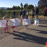 kids waiting for their parents to cross the finish line at Crush Rush at Parducci Vineyards!
