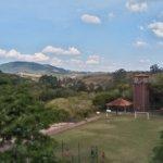 Zipline and football court