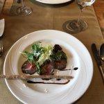 Amuse Bouche: Roastbeef, Horseraddish, Parmigiano