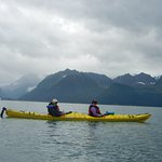 Tandem kayak - and we were still on good speaking terms afterwards! Beautiful scenery.