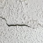 The ceiling crack - no one saw cleaning the room.