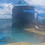 Floating pirate ship restaurant