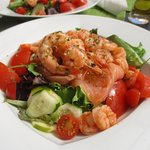 My favourite dish! A huge helping of tasty salmon and prawns!