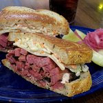 The amazing Pastrami Sandwich - Refuge, Menlo Park (20/Aug/17).