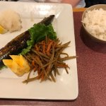 Sanma with Kinpira and Carrot, Sushi Egg (My Wife's Dessert), and Egg