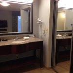 king studio sink and closet area