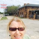 Route 66 History! In front of the RockCafe in Stroud, OK. Parking and entrance in back.