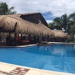 Pool area, with swim up bar.