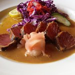 The delicious Ahi Happy Hour Call for exact times .