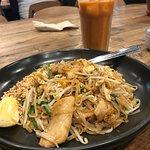 Meh pad thai and delicious thai tea