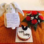 A surprise cake & bouquet from the hotel management to my sister on her birthday