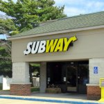 front of & entrance to Subway