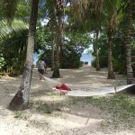 Our hammock outside the fale