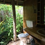 Open air, but totally private, bathroom