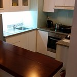 2 bedroom apartment - kitchen with dishes/pots etc