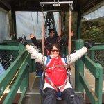 Tandom ziplining back with my husband